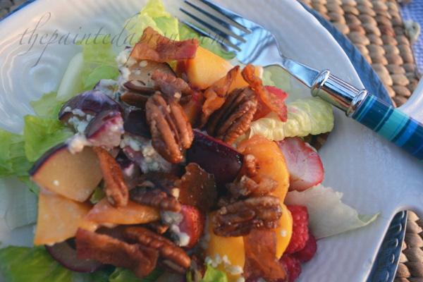 stone fruit and berry salad thepaintedapron.com