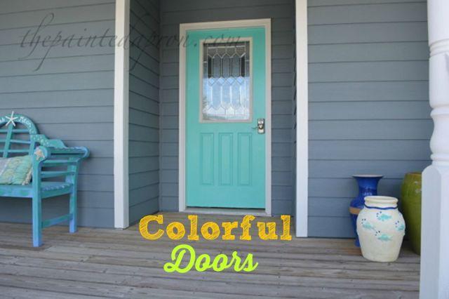 turquoise door 3 thepaintedapron.com