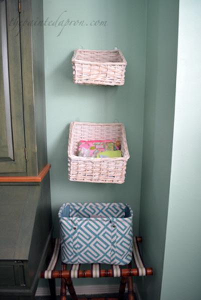 wall baskets thepaintedapron.com