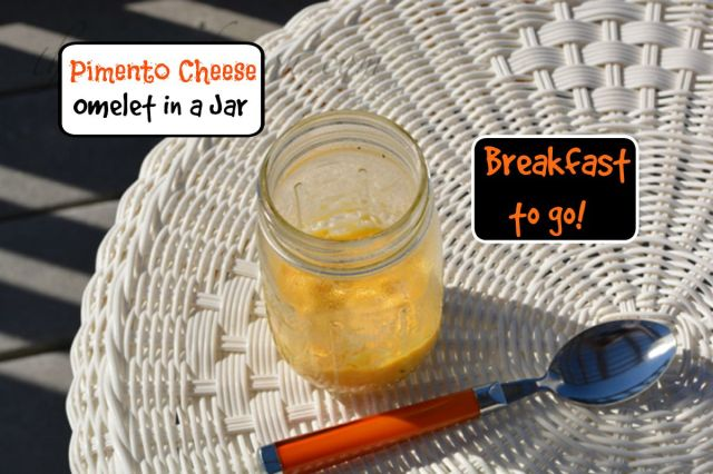 cheese omelet in a jar thepaintedapron.com
