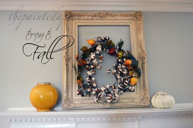 fall cotton wreath thepaintedapron.com