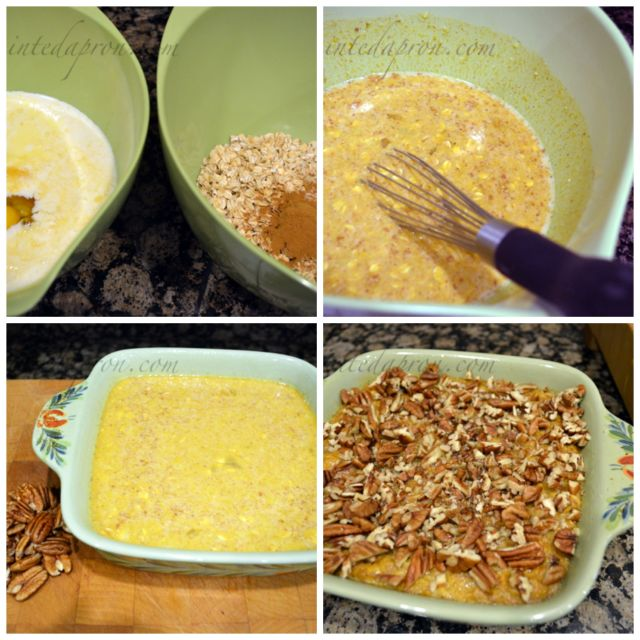 pumpkin oatmeal collage