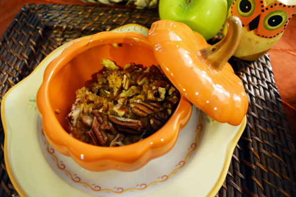 pumpkin pie oatmeal bake 1 thepaintedapron.com