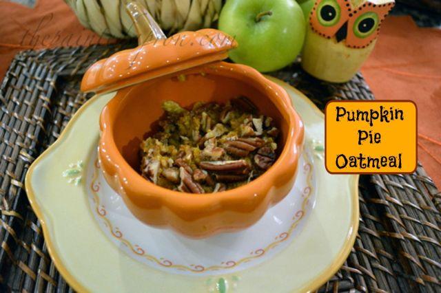 pumpkin pie oatmeal bowl thepaintedapron.com