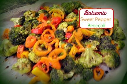 balsamic sweet pepper broccoli thepaintedapron.com