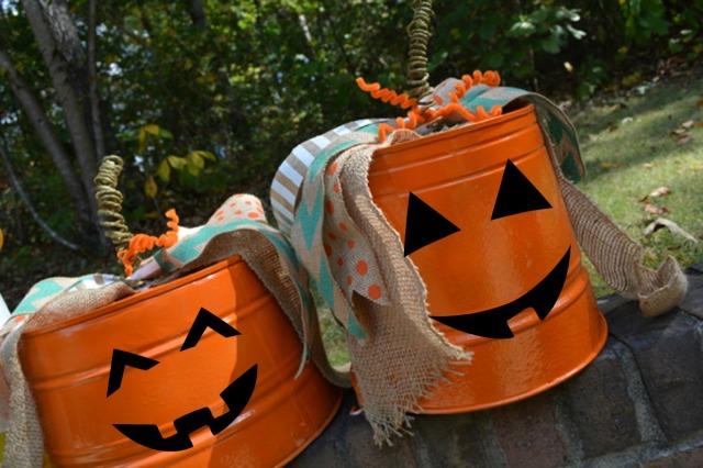 bucket pumpkins