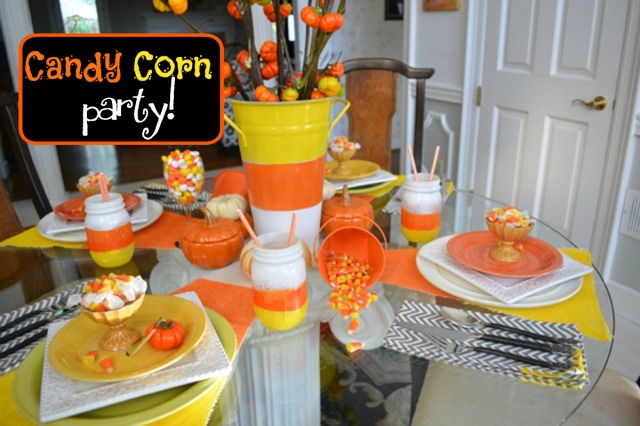 candy corn party 6 thepaintedapron.com