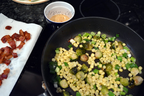 corn and brussels
