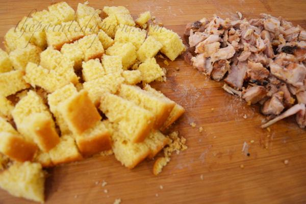 cornbread and chicken