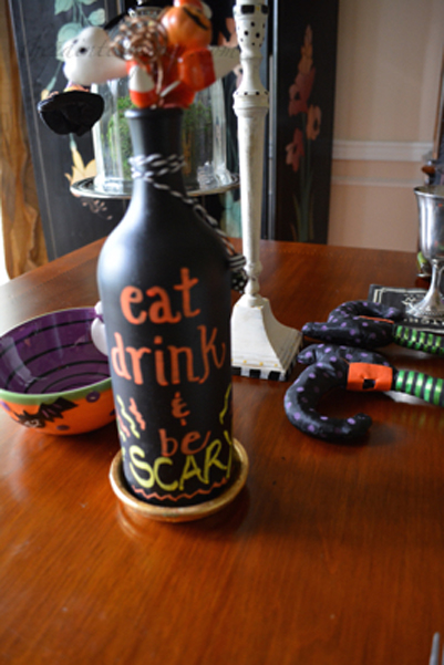 eat drink and be scary bottle thepaintedapron.com