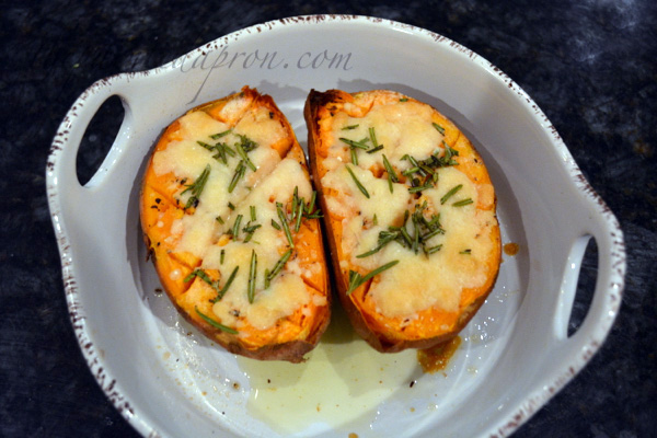 parmesan rosemary sweet potato boats