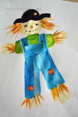 paint a scarecrow!