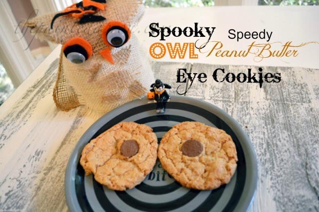 spooky owl eye cookies