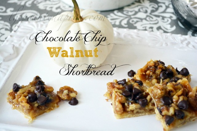 walnut chocolate chip shortbread thepaintedapron.com