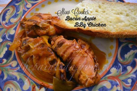 bacon and apple BBQ chicken