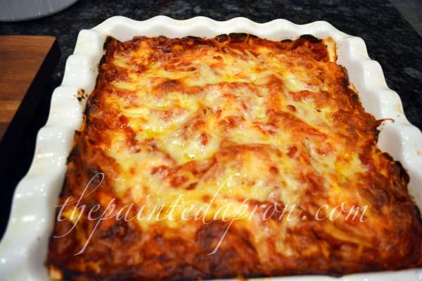 eggplant lasagna w:prociutto and gruyere