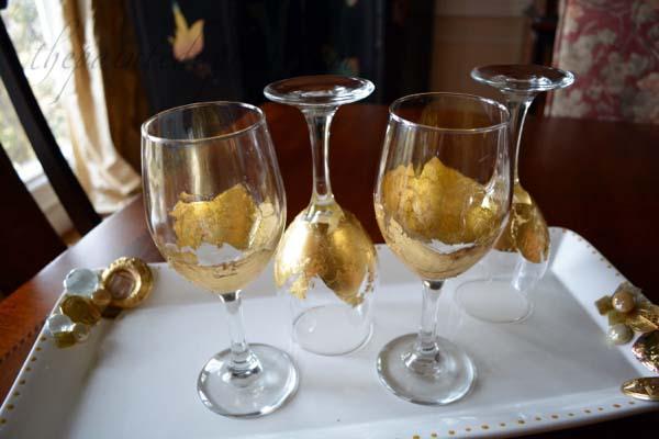 gold leaf goblets