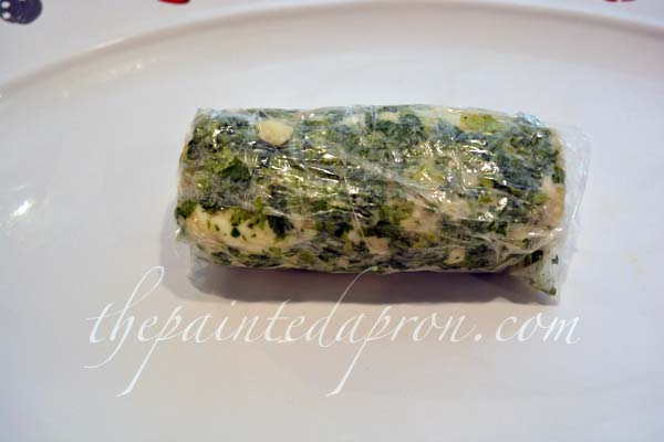 gorgonzola garlic butter log