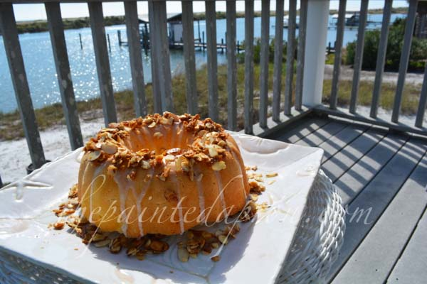 million $ cake with toffee crown