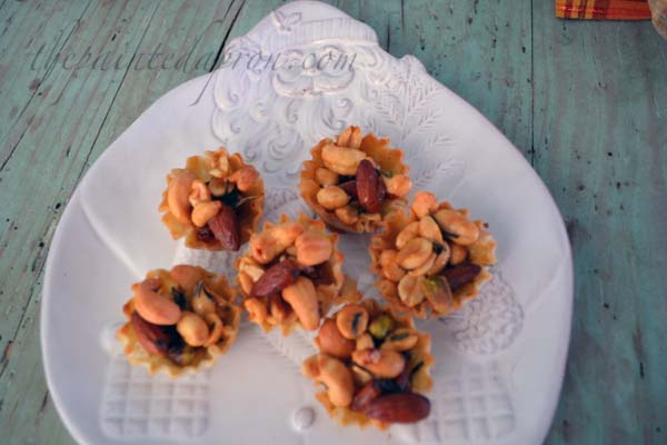 mixed nut tartlettes with rosemary