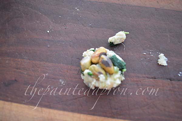 pistachio stuffing ball