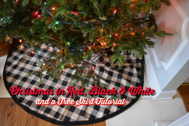 black check tree skirt