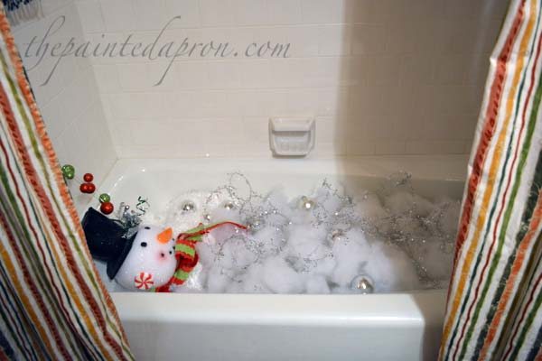 Frosty's bubble bath
