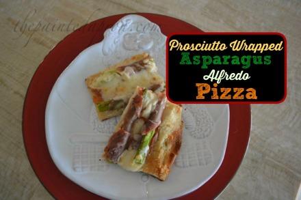 Prosciutto Asparagus Alfredo Pizza