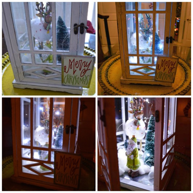 reindeer lantern collage