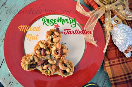 rosemary mixed nuts tartlettes 2 thepaintedapron.com