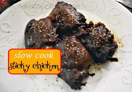 Slo cook sticky chicken