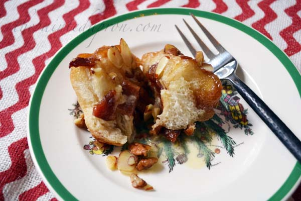 Sticky Biscuits with bacon and nuts