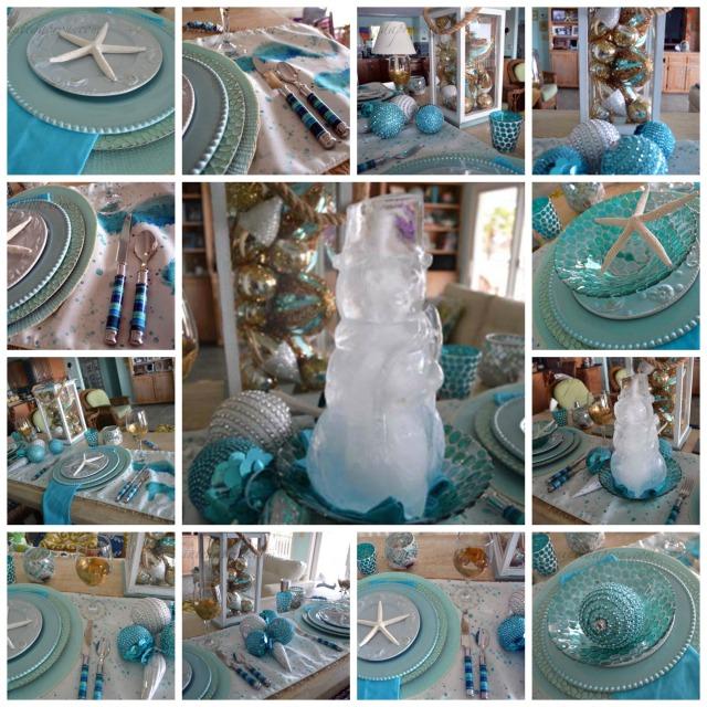 Aqua & Ice Collage