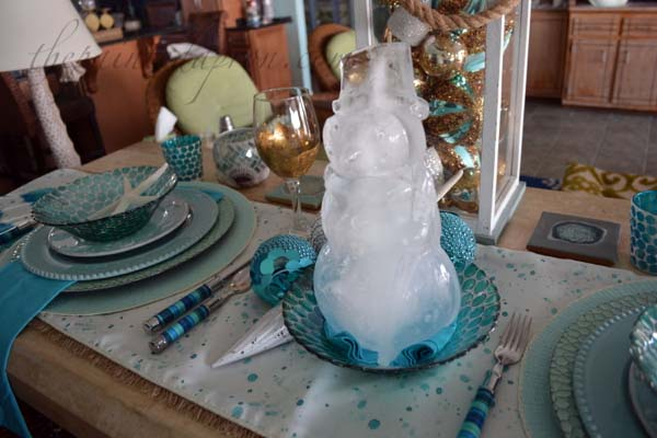 aqua ice snowman