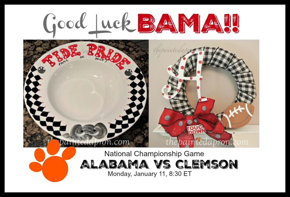 Tablescapes Good Luck Bama The Painted Apron
