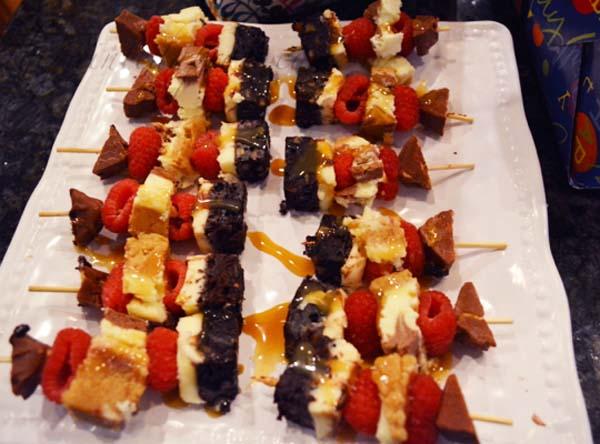 decadent dessert kebabs