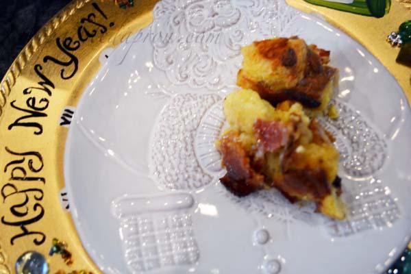 eggnog panettone pudding
