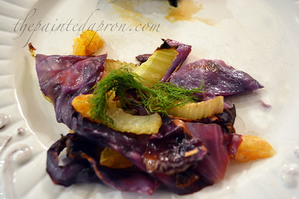 fennel and red cabbage salad