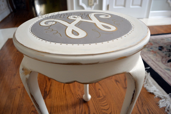 gilded side table