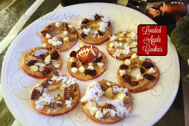 loaded apple candy cookies
