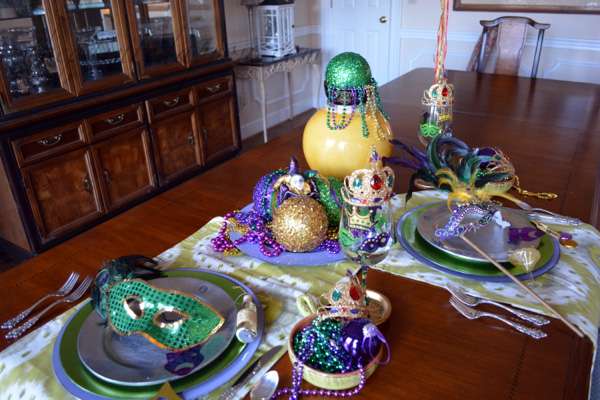 mardi gras table