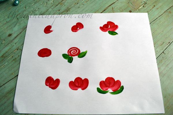 simple painted flowers