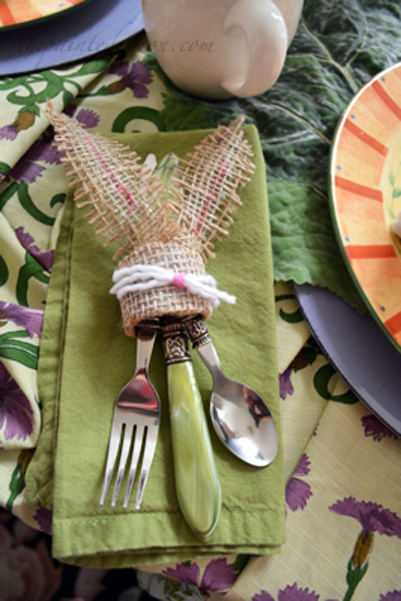 Bunny with flatware