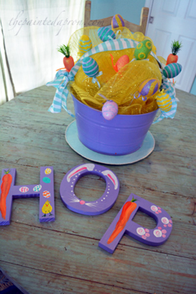 Easter sign & bucket