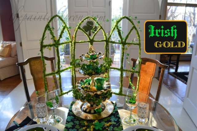 Irish Gold St. Pat's table thepaintedapron.com
