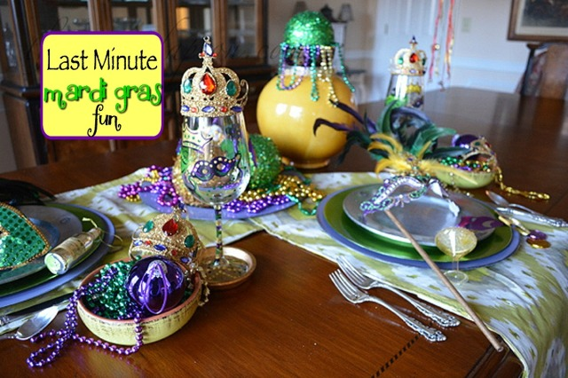 Mardi Gras crowns and masks