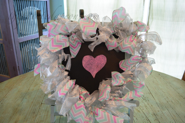 ribbon and wire heart