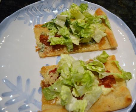 savory salad flatbread