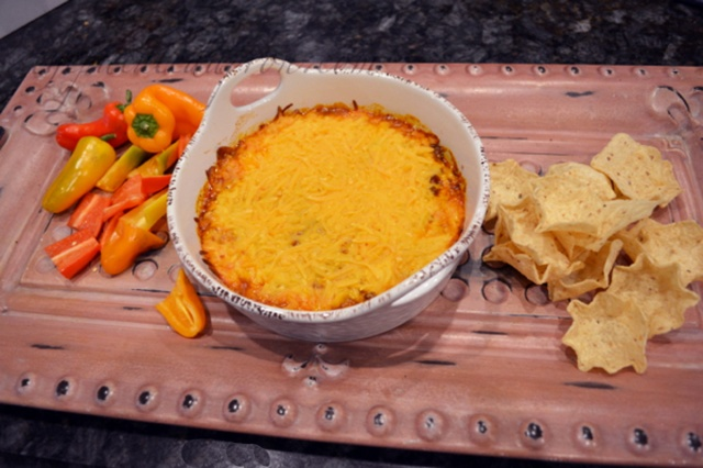 Taco Dip with mini peppers