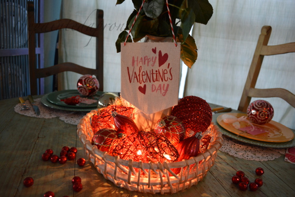 Valentine lighted centerpiece